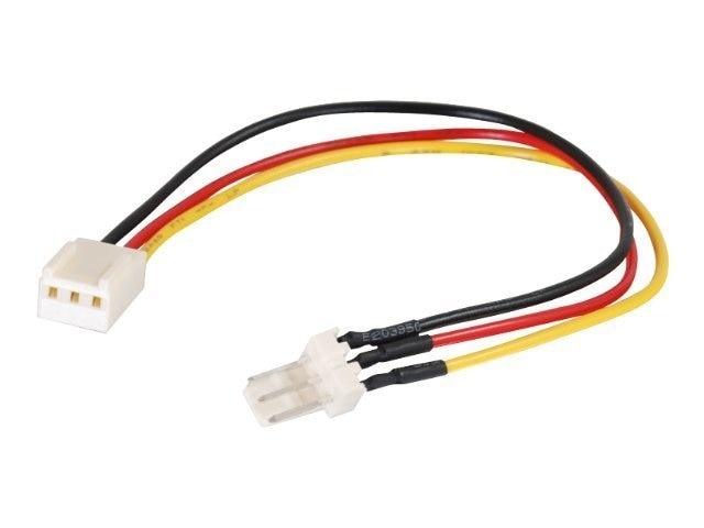 C2G Fan Power Extension Cable, 3-Pin (F) to 3-Pin (M), 7in, 27392, 7776611, Power Cords