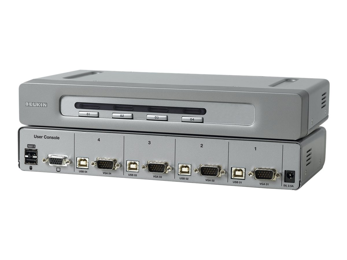 Belkin OmniView Secure 4-Port KVM Switch, F1DN104U, 6897613, KVM Switches