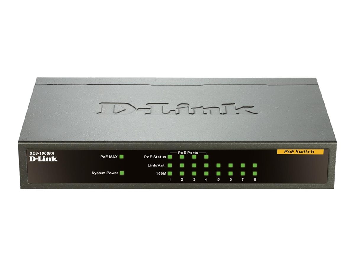 D-Link 8-Port 10 100 Desktop Switch with 4 PoE Ports