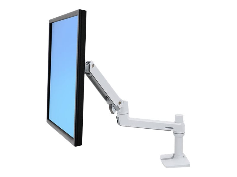 Ergotron LX Desk Mount LCD Monitor Arm, White, 45-490-216