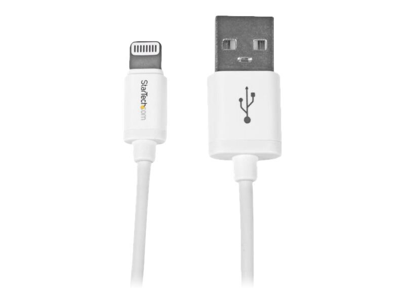 StarTech.com Apple 8-pin Lightning to USB Cable, White, 3ft, USBLT1MW