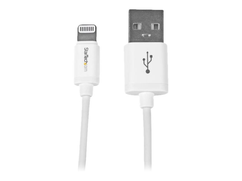 StarTech.com Apple 8-pin Lightning to USB Cable, White, 3ft