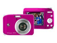 General Electric Consumer A1235 Digital Camera, 12.2MP, 3x Zoom, Pink, A1235-PK, 9562270, Cameras - Digital - Point & Shoot