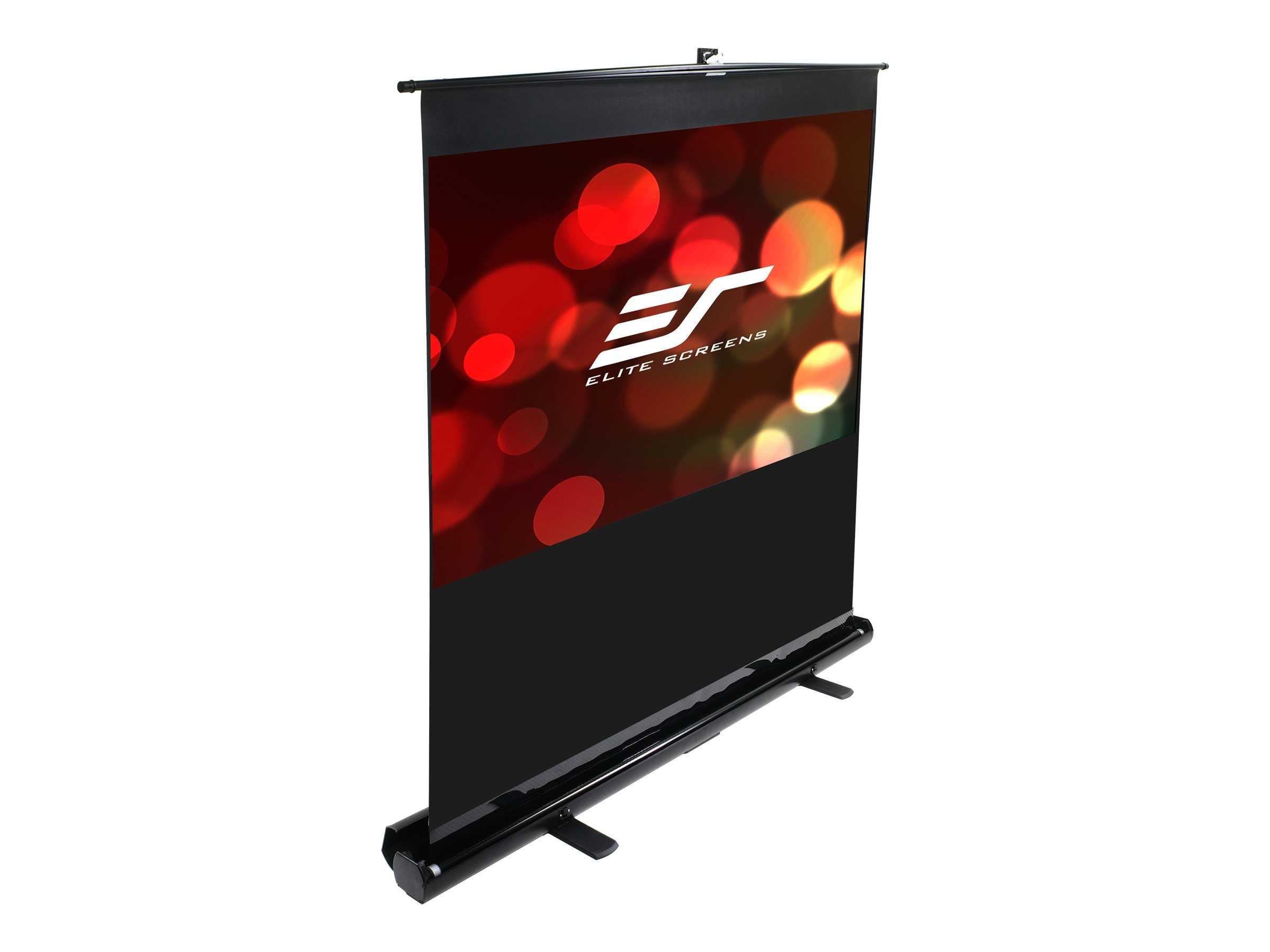 Elite ezCinema Floor Pull-Up Projection Screen, MaxWhite, 16:10, 56