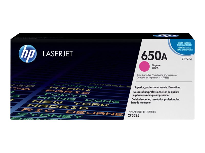 HP 650A (CE273A) Magenta Original LaserJet Toner Cartridge, CE273A, 11912072, Toner and Imaging Components