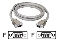 Black Box DB9 Extension Cable with EMI RFI Hoods (F-F), Beige, 75ft.