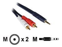 C2G Audio Y-Cable, 3.5mm-Dual RCA, 3ft, 40613, 7315347, Cables