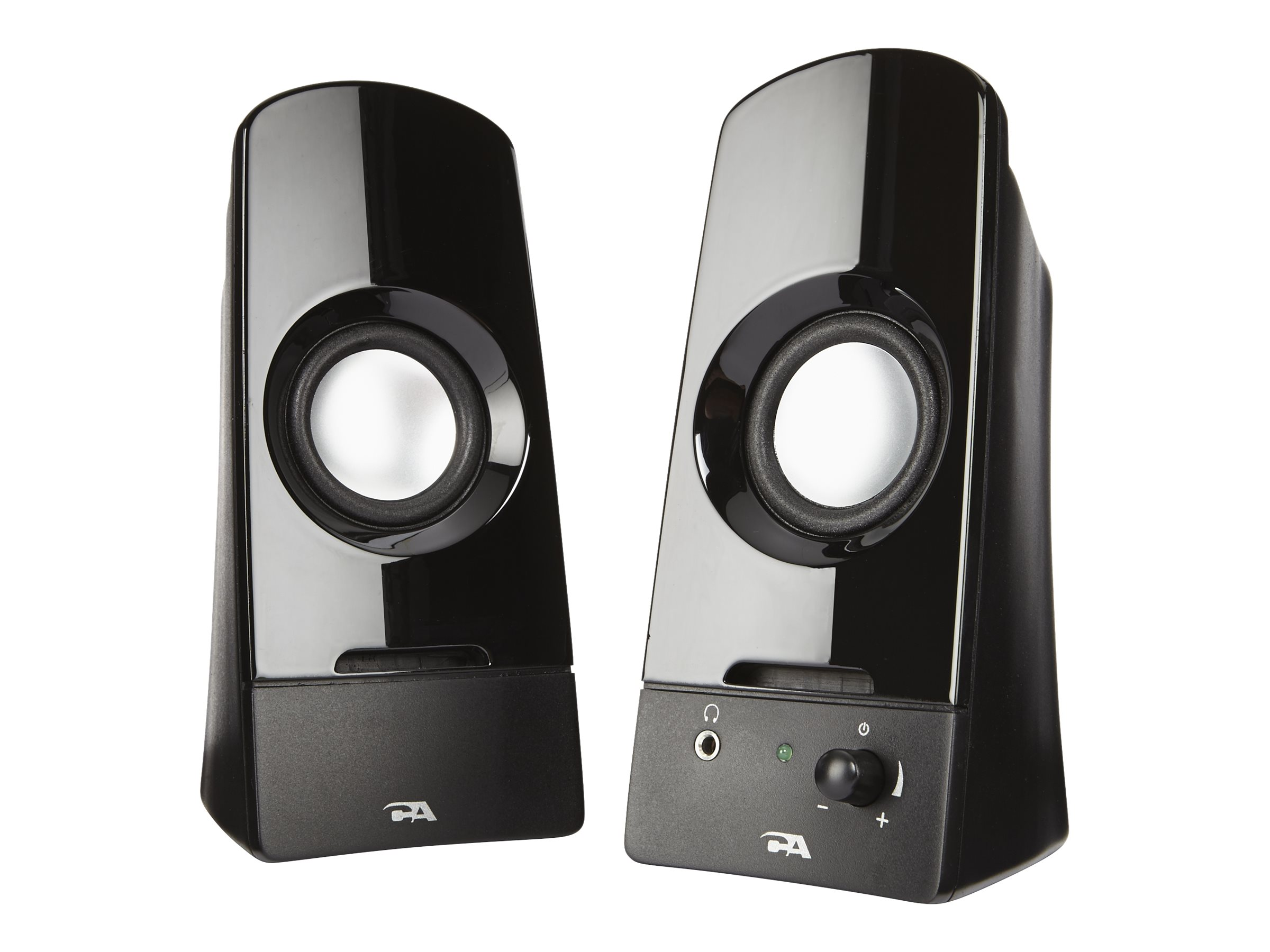 Cyber Acoustics Curve Series 2.0 Powered Speaker System w  Titanium Drivers, CA-2050