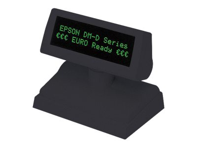 Epson 2x20 Pole Display USB, Display Only, Dark Gray, A61B133112, 8855951, POS Pole Displays