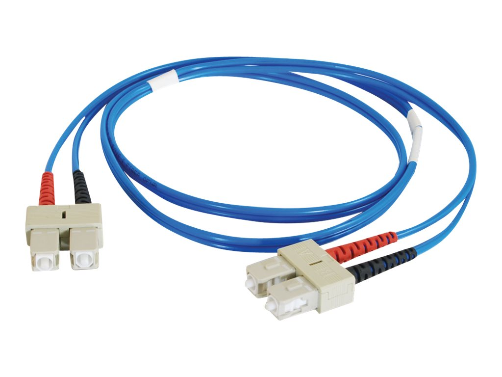 C2G SC-SC 62.5 125 OM1 Multimode Duplex Fiber Cable, Blue, 1m