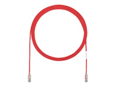 Panduit Cat6e 28AWG UTP CM LSZH Copper Patch Cable, Red, 22ft, UTP28SP22RD