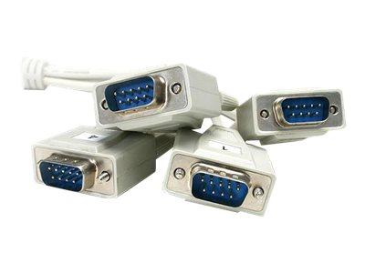 StarTech.com 4 Port RS232 Serial over IP Ethernet Device Server, NETRS232_4