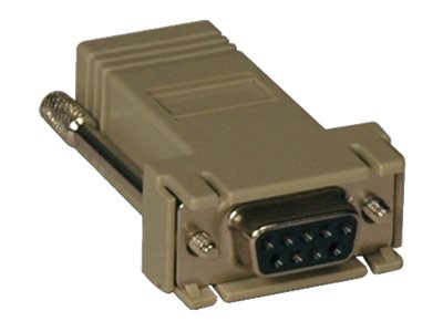 Tripp Lite Straight Through Adapter RJ-45 DB9 (F) for Console Servers, B090-A9F, 9996490, Adapters & Port Converters