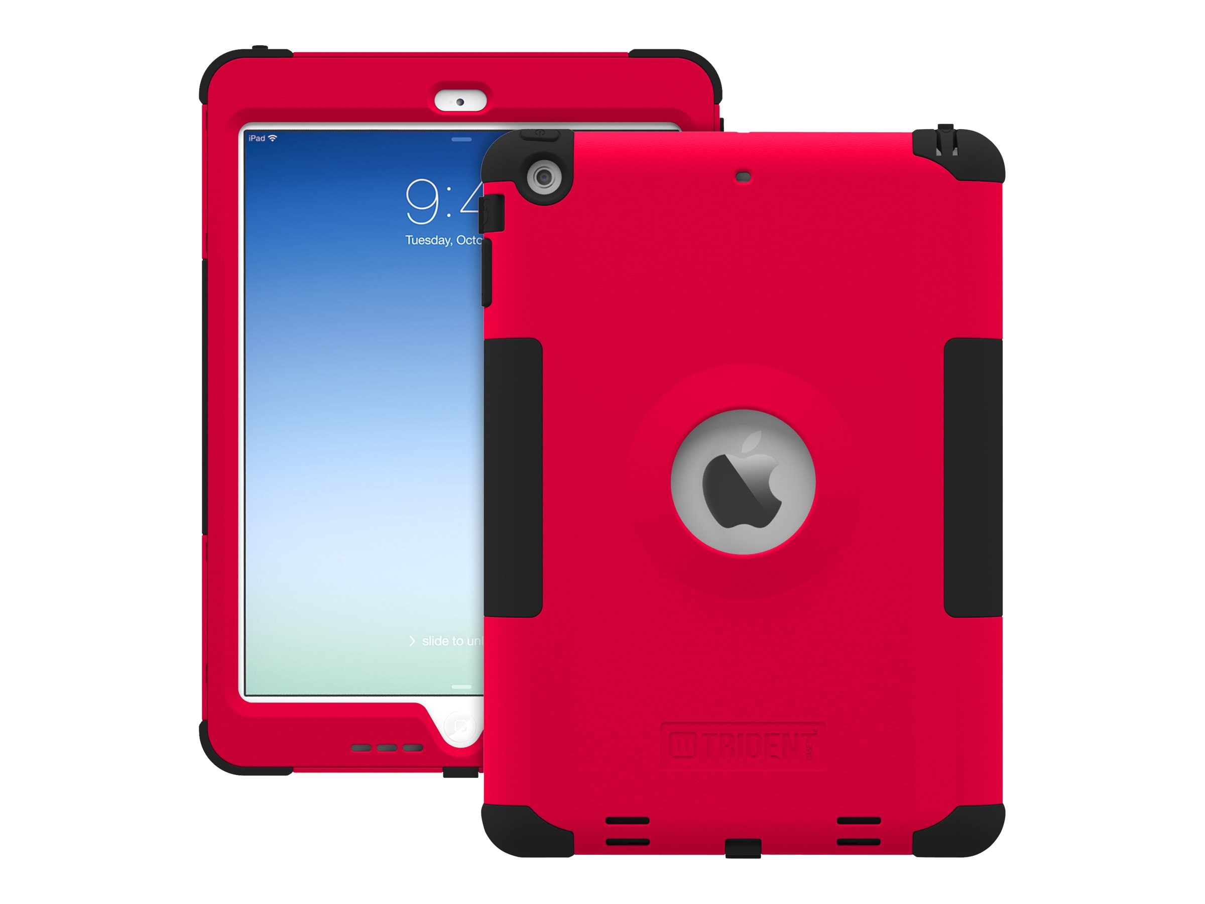 Trident Case Kraken AMS Case for Apple iPad Air, Red, AMS-APL-IPAD5-RED, 16902228, Carrying Cases - Tablets & eReaders