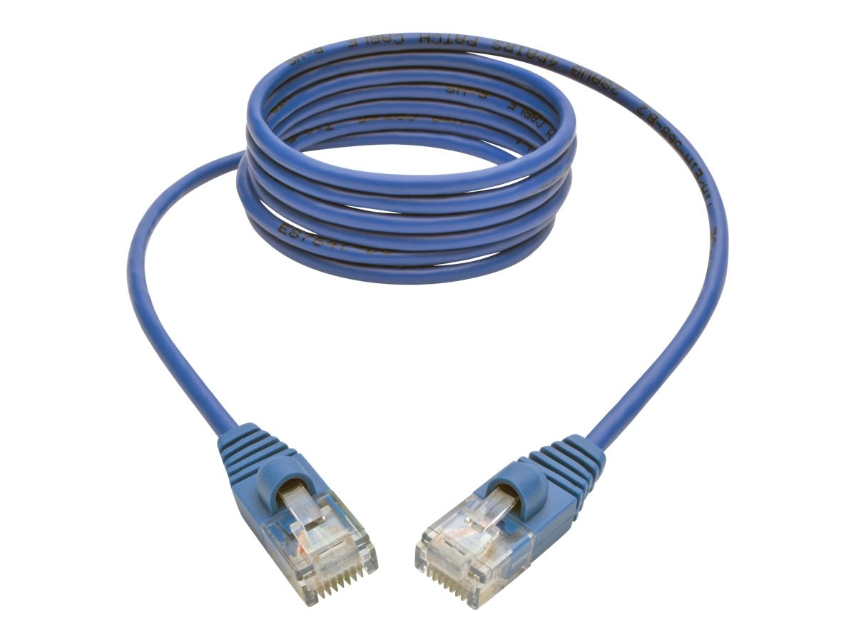 Tripp Lite Cat5e 350MHz Snagless Molded Slim UTP Patch Cable, Blue, 5ft, N001-S05-BL