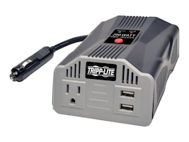Tripp Lite PowerVerter 200W Ultra-Compact Inverter w  AC Outlet, 12VDC Vehicle Outlet, (2) USB Charging Ports, PV200USB, 26274974, Power Converters
