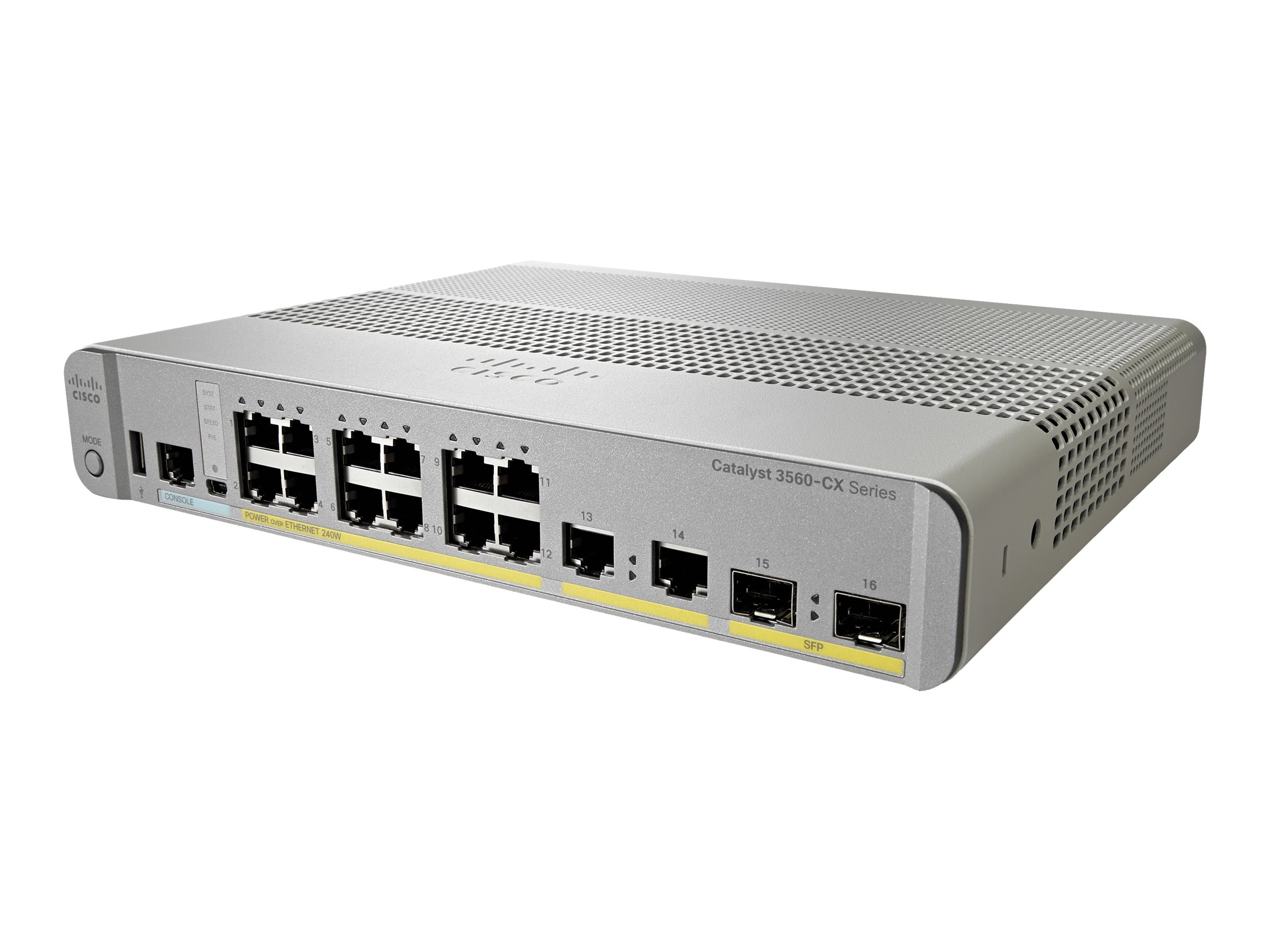 Cisco Catalyst 3560-CX 12-Port POE IP Base, WS-C3560CX-12PC-S, 18462983, Network Switches