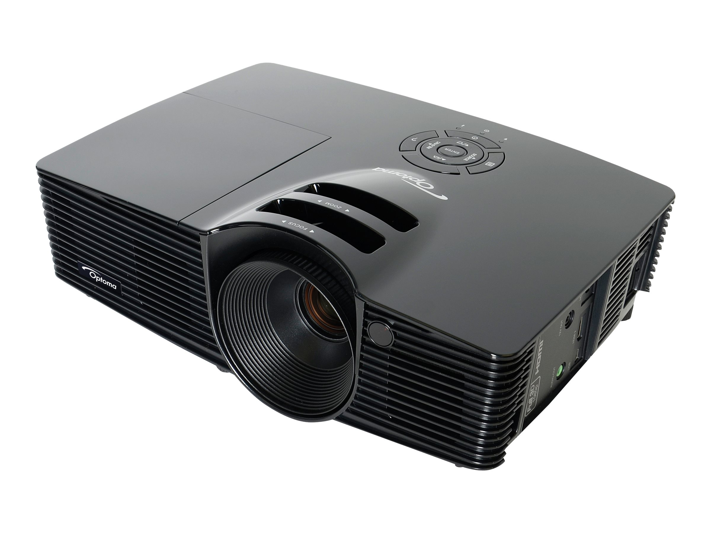 Refurb. Optoma HD141X Full HD DLP 3D Projector, 3000 Lumens, Black