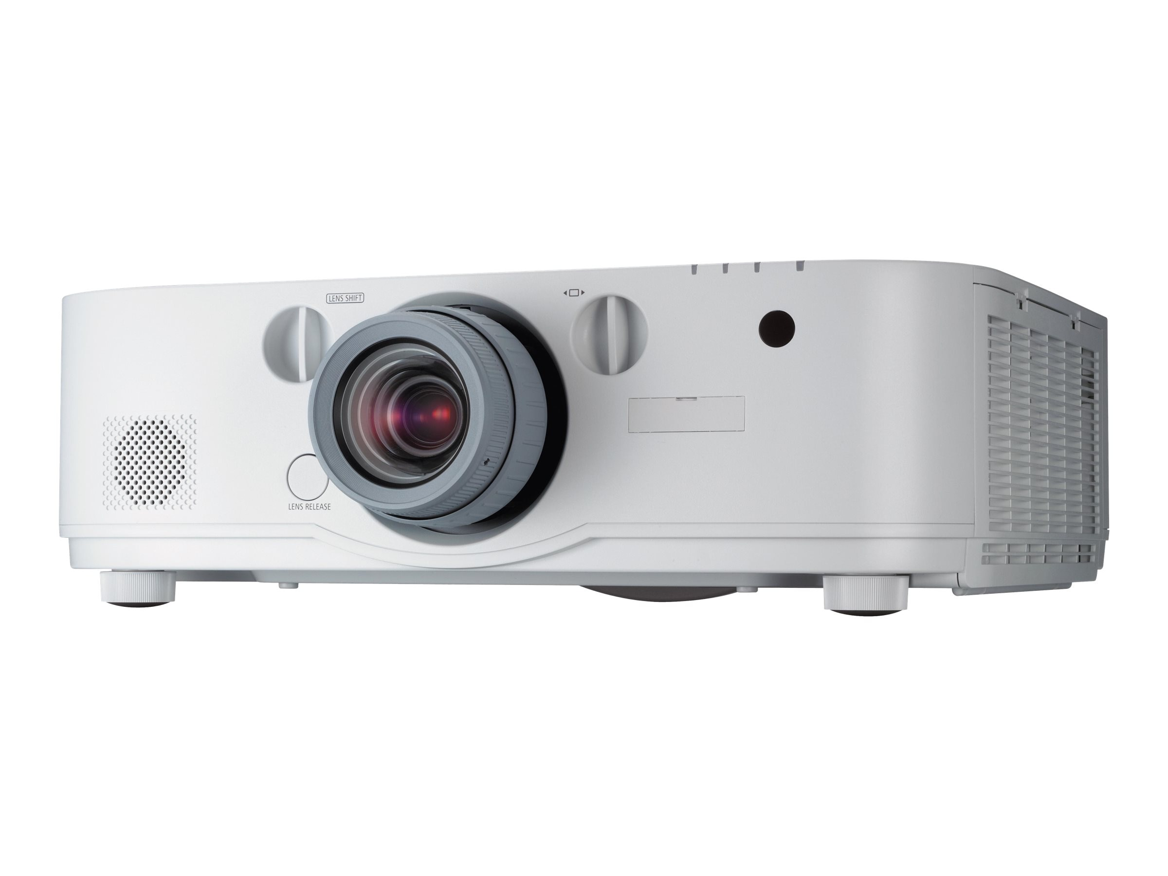 NEC PA672W WXGA LCD Projector, 6700 Lumens, White with 1.5-3.0:1 Zoom Lens, NP-PA672W-13ZL, 17542236, Projectors
