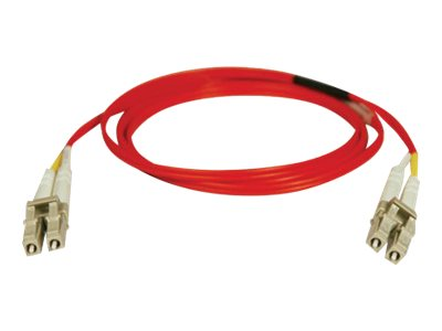 Tripp Lite Fiber Optic Cable, LC-LC, 62.5 125, Duplex, Multimode, Red, 3m, N320-03M-RD