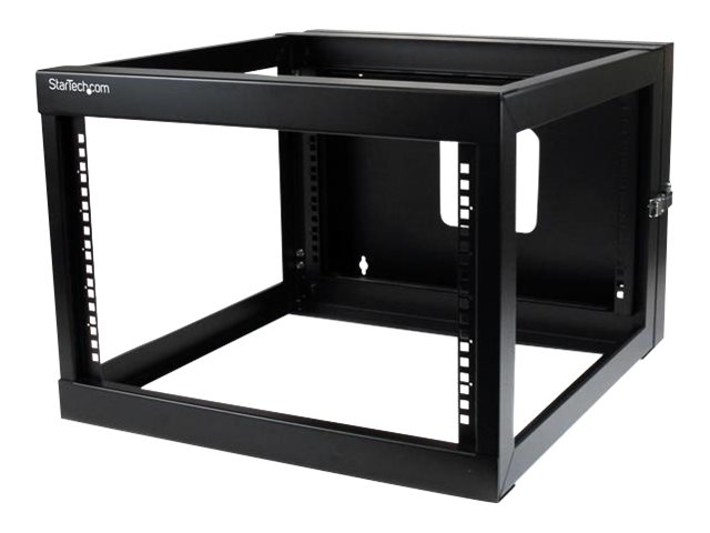 StarTech.com 6U x 22d Hinged Open Frame Wall Mount Server Rack, RK619WALLOH