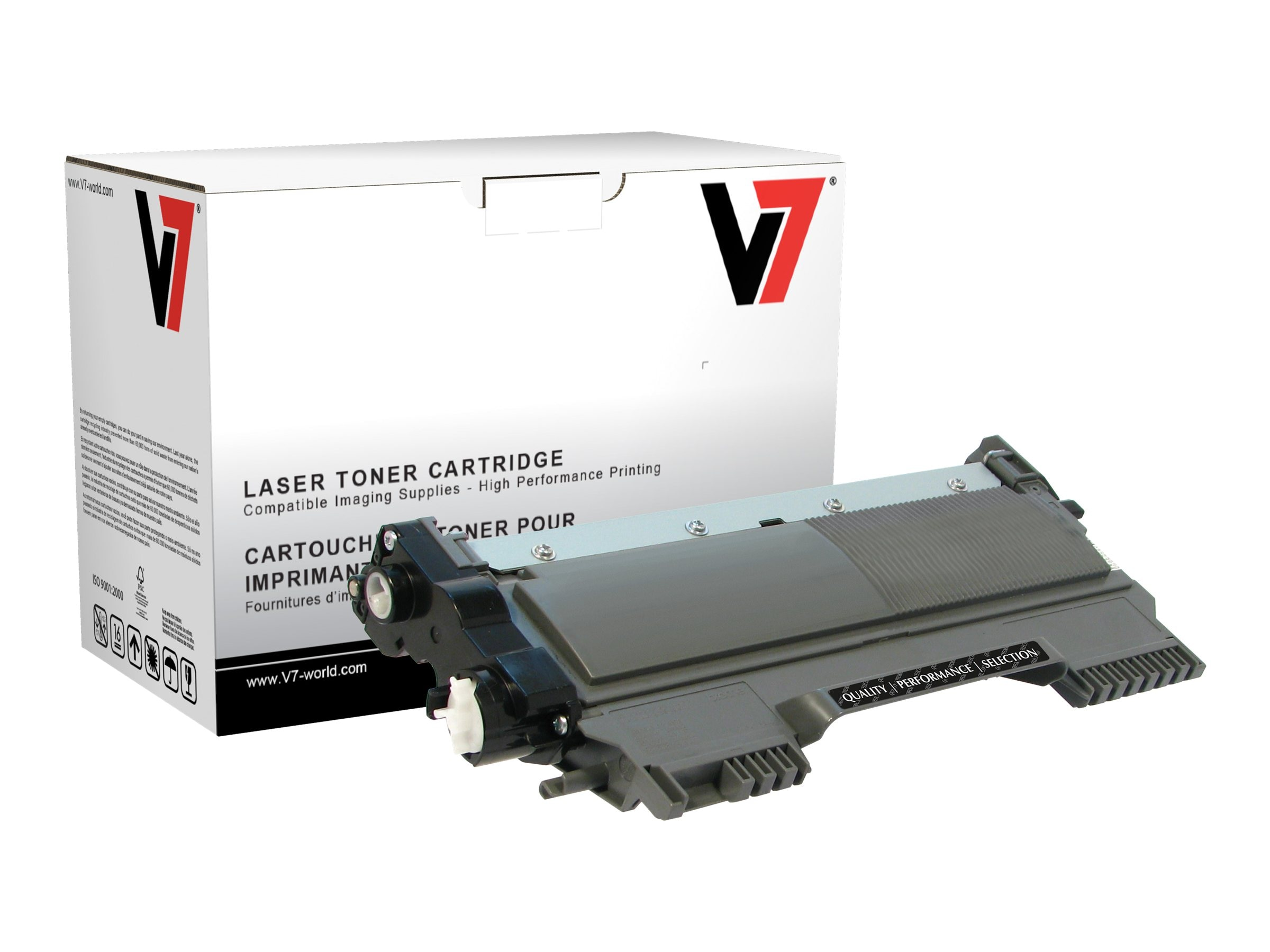 V7 TN420 Black Toner Cartridge for Br0ther HL-2240D (TAA Compliant), TBK2TN420, 13731662, Toner and Imaging Components