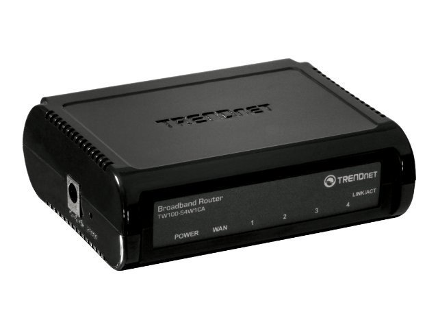 TRENDnet 4-Port Broadband Router, TW100-S4W1CA, 430228, Broadband Routers