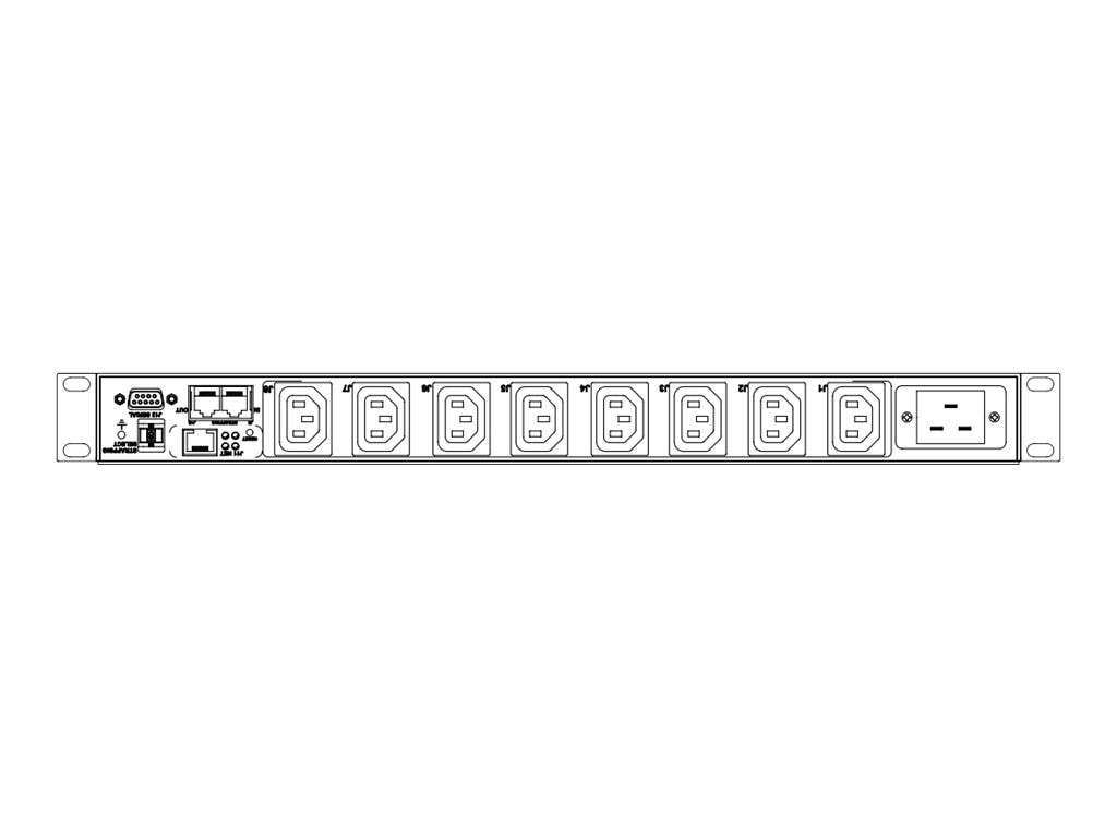 Eaton Switched ePDU 3.33kW 100-240V 16A 1U C20 Input (8) C13 Outlets 2P 20A CB, IPC3401-3633