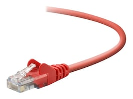 Belkin Cat5e Snagless Patch Cable, Red, 10ft, A3L791-10-RED-S, 40824, Cables