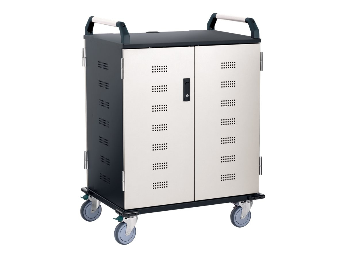 Ergotron 18-Unit Deluxe Laptop Charging Cart, NCCM18BK/WH5