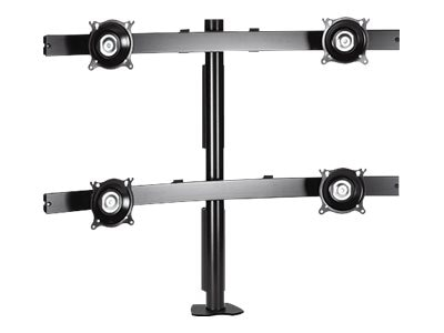 Chief Manufacturing Widescreen Quad Monitor Desk Clamp Mount with 10-30 Displays, Silver