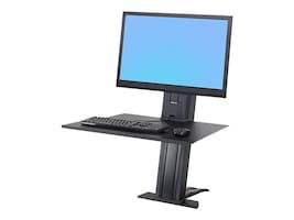 Ergotron WorkFit-SR, 1 Monitor, Sit-Stand Desktop Workstation, Black, 33-415-085, 31989595, Stands & Mounts - AV