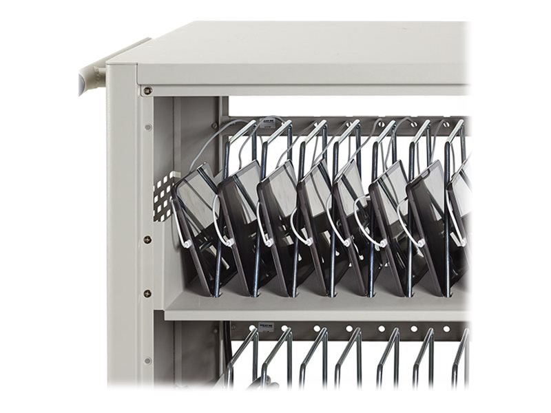 Black Box 30-Device Charging Cart with Steel Top, 3 PDU, Timer, LCC30H-AT