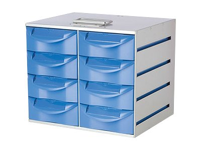 Rubbermaid Transfer Cart, Solid Construction, 8 Drawer Compacity, 9M33-08, 9409110, Computer Carts - Medical