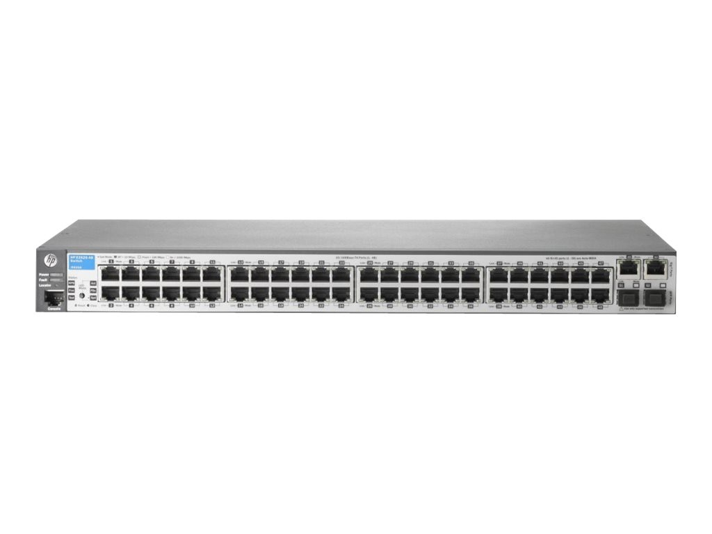 HPE Aruba 2620 48-Port FE Switch w 2xGbE, 2xSFP, J9626A#ABA, 13323280, Network Switches