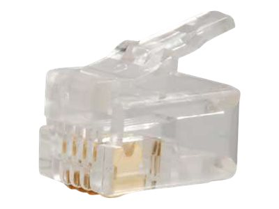 C2G RJ-11 4x4 Modular Plug, Flat Strand, 01921, 14279680, Cable Accessories