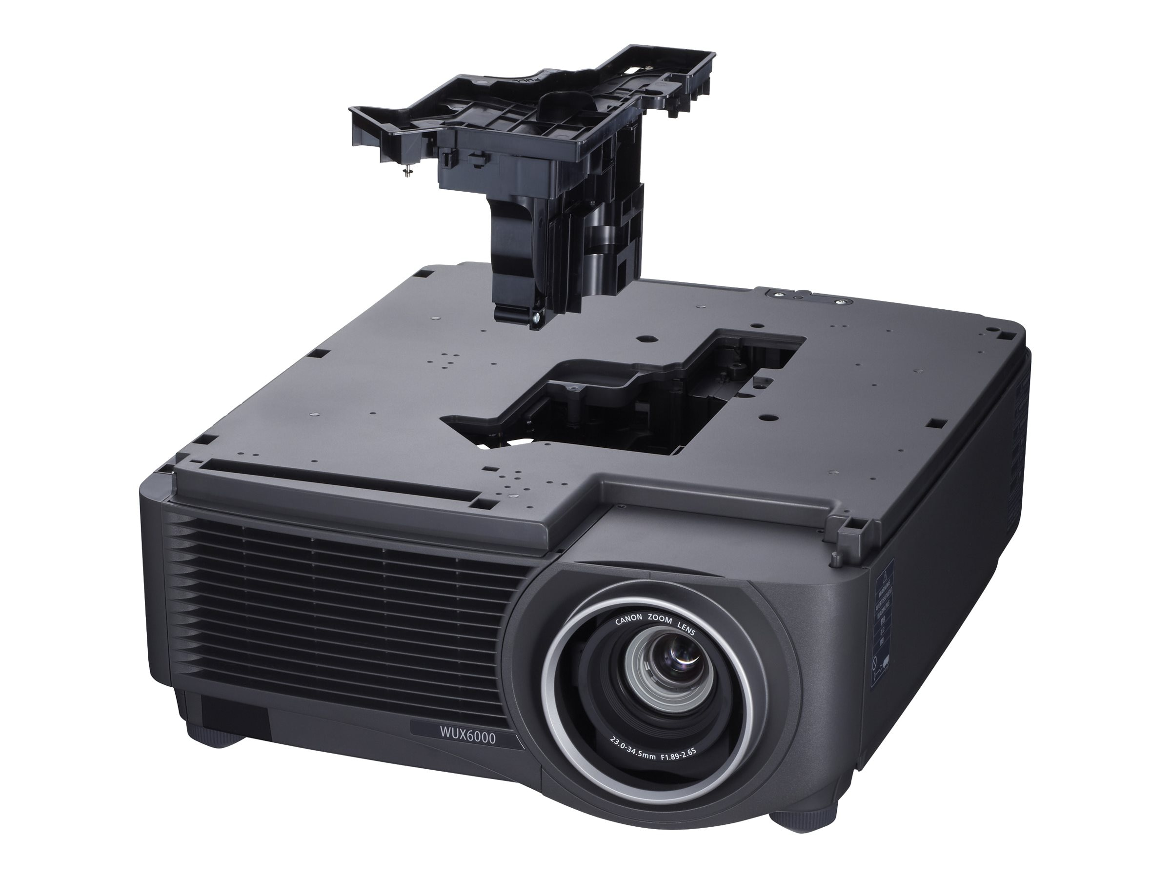 Canon REALiS WUX6000 WUXGA LCoS Projector, 6000 Lumens, White Black, Standard Zoom Lens