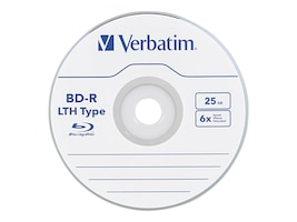 Verbatim 6x 25GB LTH Type BD-R Media (20-pack Spindle), 97344, 12828833, Blu-Ray Media