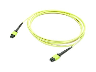 ACP-EP OS1 Fiber Patch Cable, MPO-MPO, 9 125, Single-Mode, Duplex, Yellow, 1m, ADD-MPOMPO-1M9SM