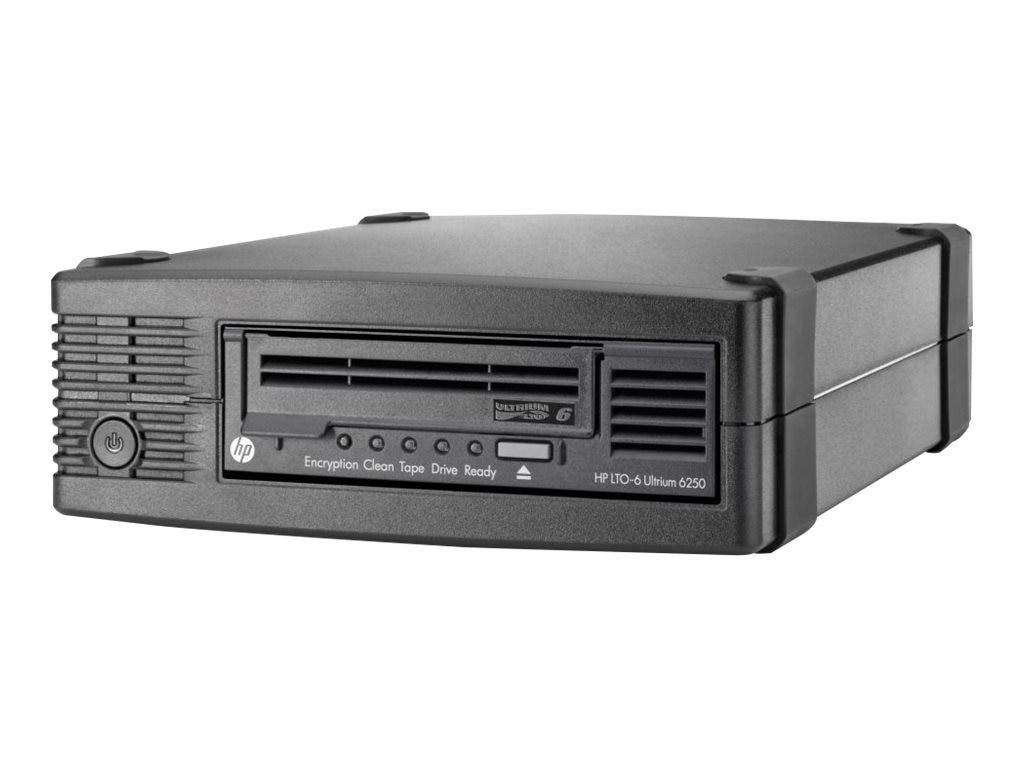 HPE StoreEver LTO-6 Ultrium 6250 External Tape Drive, EH970SB, 16244211, Tape Drives