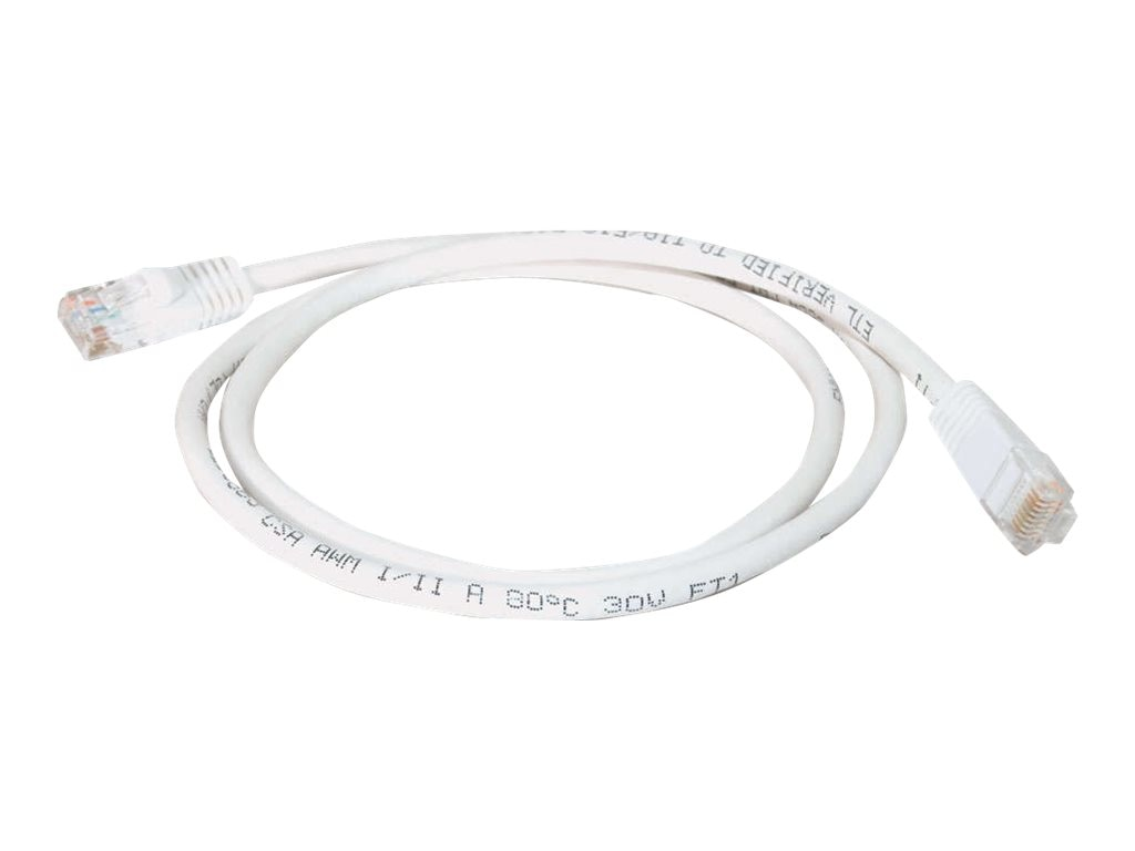 C2G Cat5e Snagless Unshielded (UTP) Network Patch Cable - White, 10ft, 25428, 5686814, Cables