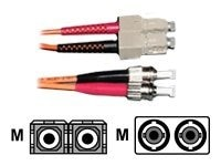 CP Technologies ClearLinks Fiber Patch Cable, ST-SC, 62.5 125, Multimode, Duplex, Orange, 8m