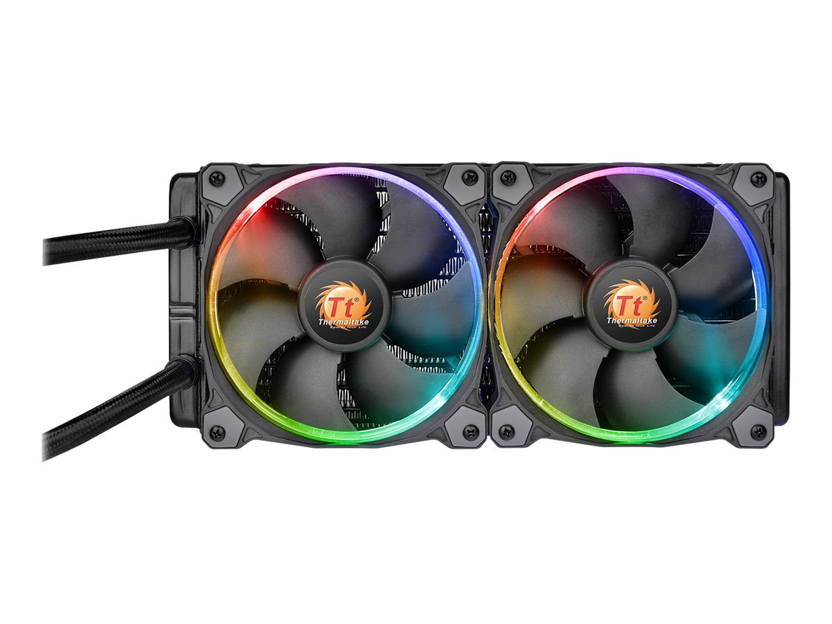 Thermaltake Water 3.0 Riing RGB 240 Liquid CPU Cooler, CL-W107-PL12SW-A