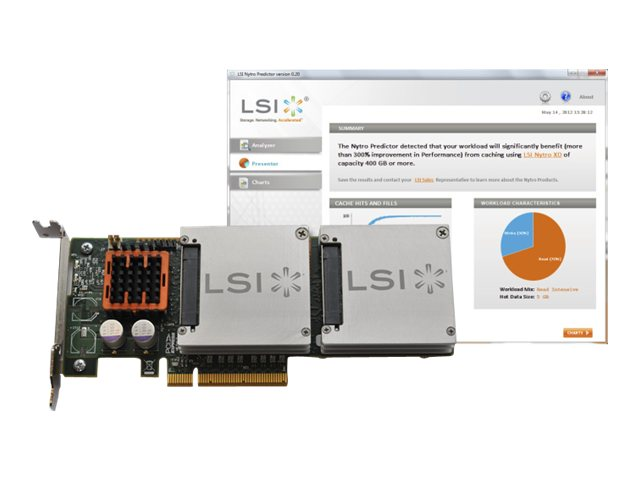 LSI LSI NYTRO WARPDRIVE XD BLP4-400, LSI00325, 14297896, Solid State Drives - Internal