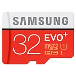Samsung 32GB Micro SDHC EVO+ Flash Memory Card with Adapter, Class 10