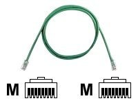 Panduit CAT5E UTP Copper Patch Cord, Green, 14ft