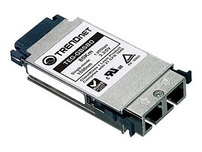 TRENDnet GBIC Single Mode LX 80km Module, TEG-GBS80, 7955862, Network Device Modules & Accessories