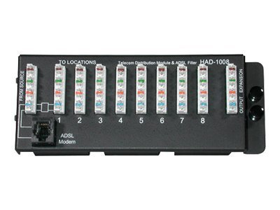 C2G 8-Port 110 IDC Telephone Module with DSL Filter, 37010, 14803120, Premise Wiring Equipment