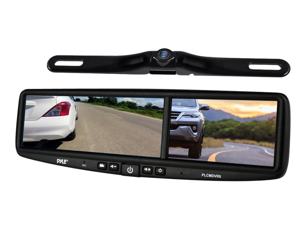 Pyle DVR Dual Camera HD Video Recording Driving System Rearview Backup