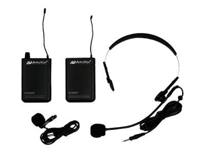 AmpliVox Full Kit 16-CH UHF Wireless Lapel